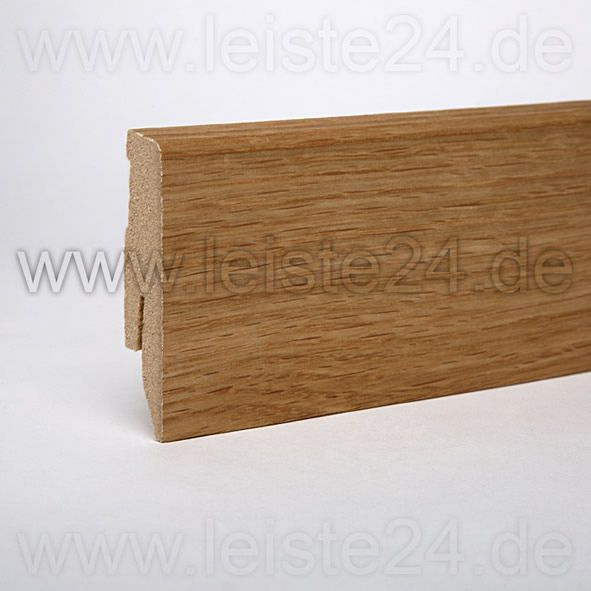 Furnier-Sockelleiste 60 mm Eiche geölt