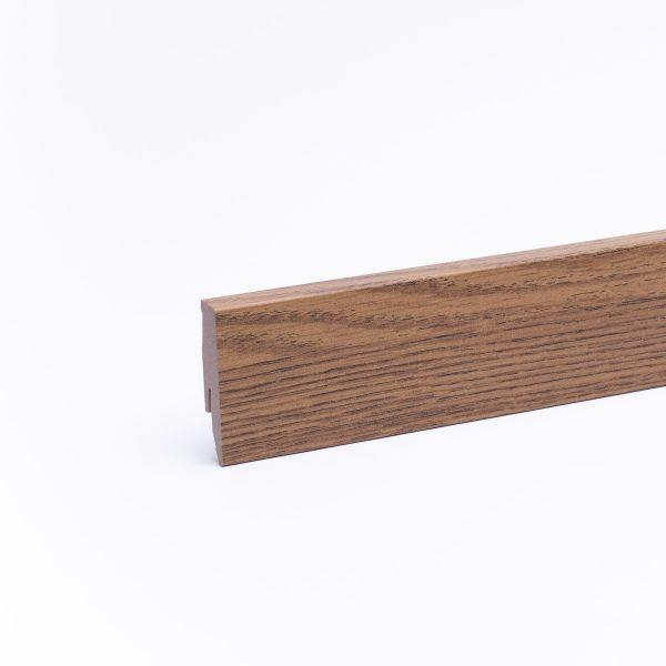 Sockelleiste mit Holzoptik 60mm Eiche gebeizt