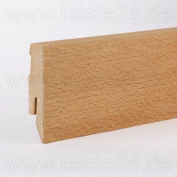 Furnier-Sockelleiste 60 mm Buche geölt