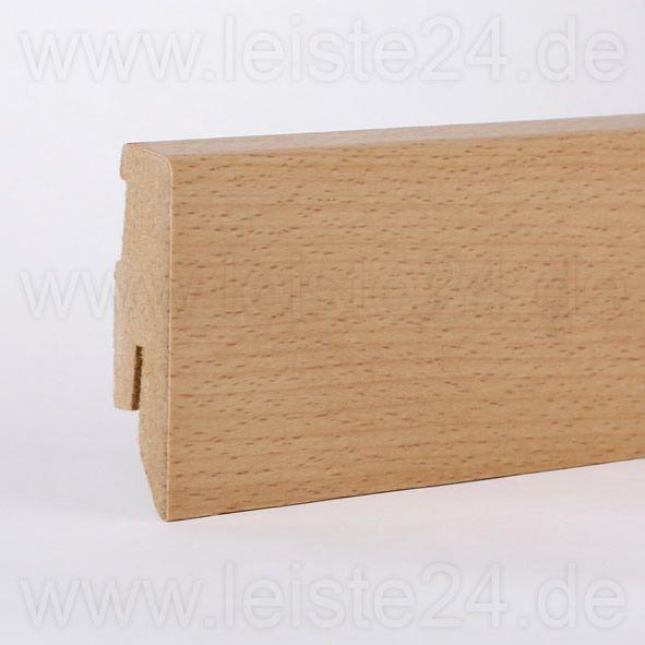 Furnier-Sockelleiste 60 mm Buche gelackt