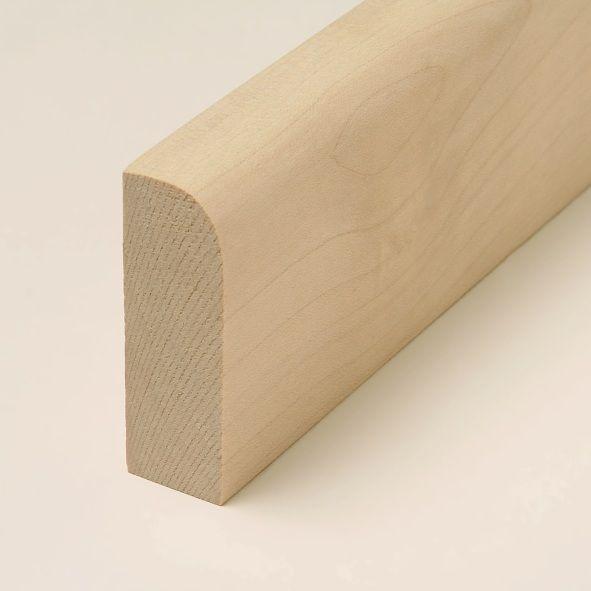 Massivholz-Sockelleiste abgerundet 80mm - Ahorn roh