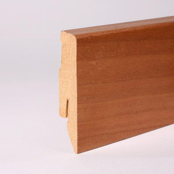 Furnier-Sockelleiste 60 mm Kirschbaum gelackt