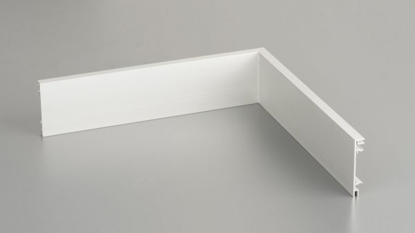 Innenecke für Aluminium-Clips-Sockelleiste 10 x 60mm
