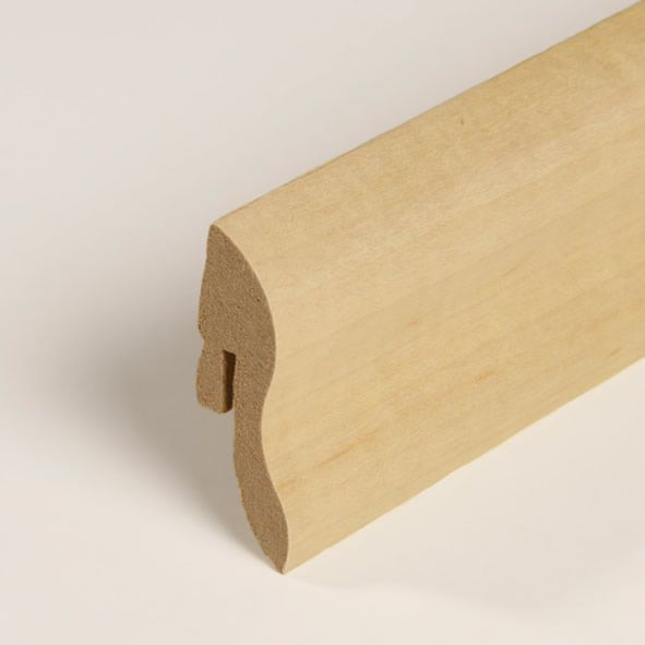 Furnier-Sockelleiste 40mm Ahorn geölt