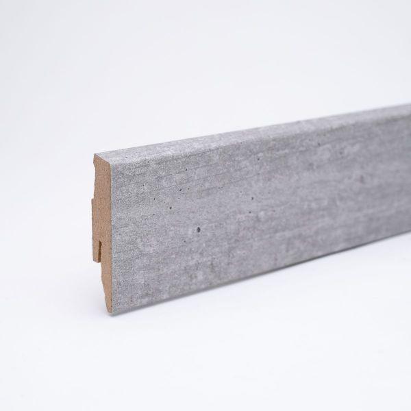 Dekor-Sockelleiste 60mm Betongrau