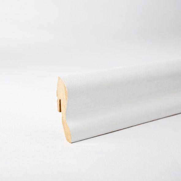 Furnier-Sockelleiste 40mm deckend weiß lackiert