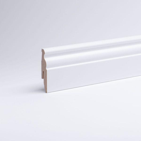 Aktionspaket 30 Meter Sockelleisten Berliner Profil 60mm Wei