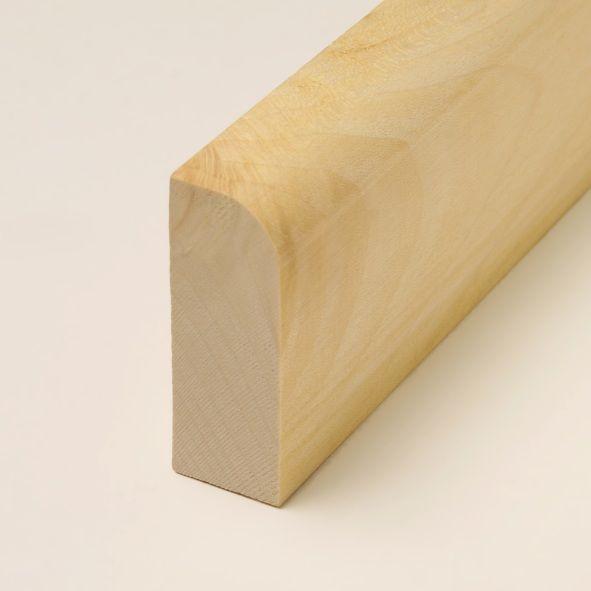 Massivholz-Sockelleiste abgerundet 120mm - Ahorn geölt