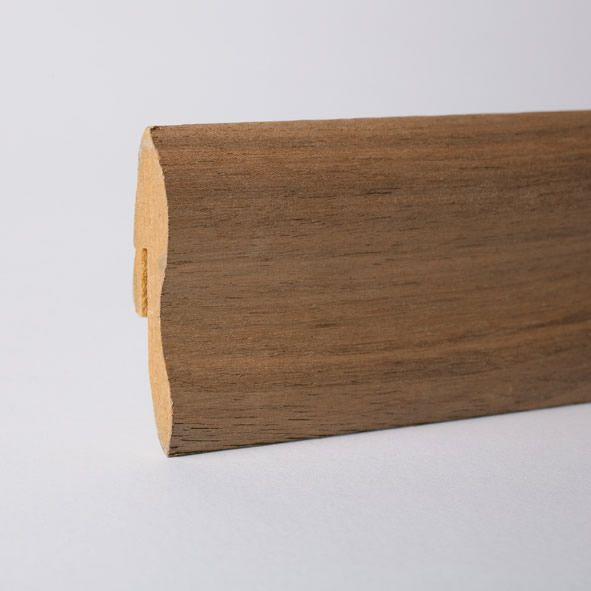 Furnier-Sockelleiste 40mm Nussbaum roh