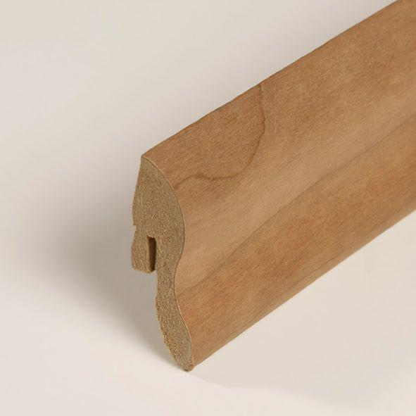 Furnier-Sockelleiste 40mm Kirschbaum roh