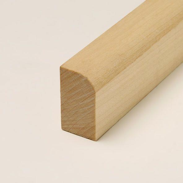Massivholz-Sockelleiste 40mm abgerundet - Ahorn geölt