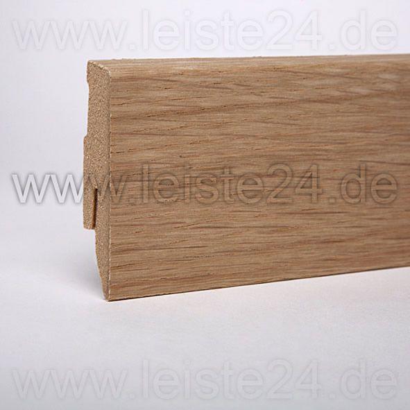 Furnier-Sockelleiste 60 mm Eiche roh