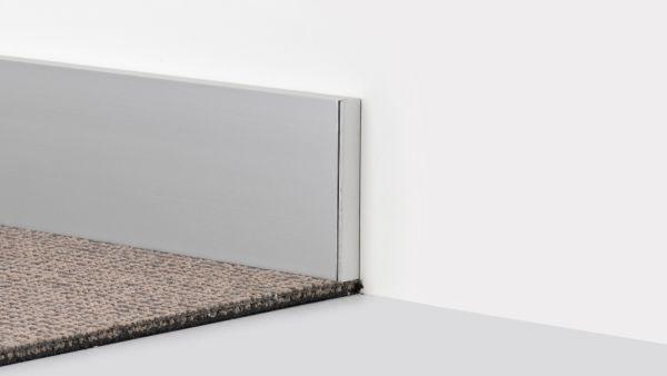 Endstück für Aluminium-Clips-Sockelleiste 13 x 60mm