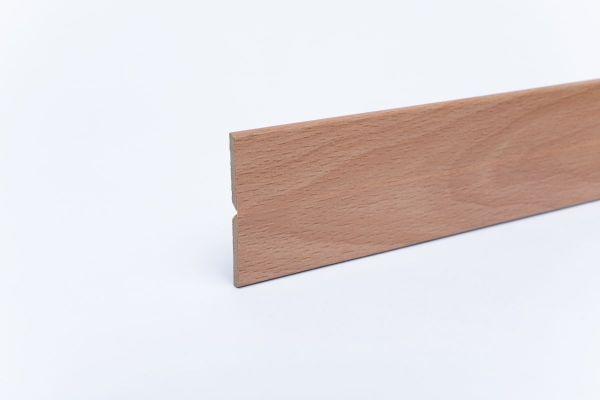 Knickleiste auf MDF-Träger in Holzoptik Buche