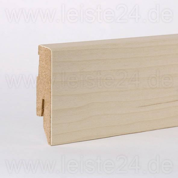 Furnier-Sockelleiste 60 mm Ahorn roh