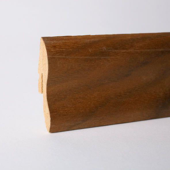 Furnier-Sockelleiste 40mm Nussbaum geölt