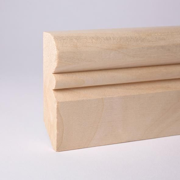 Alt-Reno Profil-Sockelleiste Massivholz 80mm - Ahorn roh