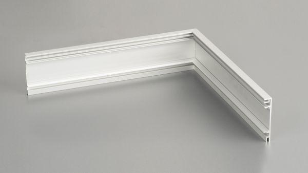 Außenecke für Aluminium-Clips-Sockelleiste 13 x 60mm