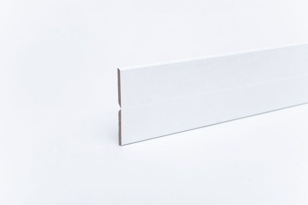 Knickleiste auf MDF-Träger Weiß